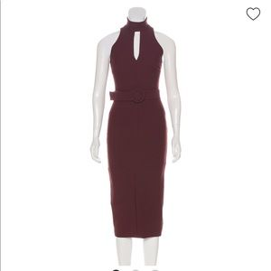 Cinq a sept midi dress burgundy
